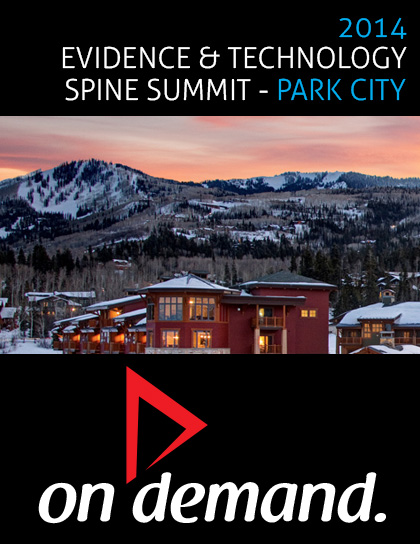 2014 Evidence & Technology Spine Summit OnDemand Product Details